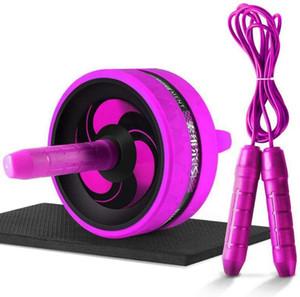 Nouveau 2 en 1 Ab RollerJump Corde de bruit roue abdominale Ab Rouleau avec tapis pour bras taille jambe gymnastique Équipement de remise en forme