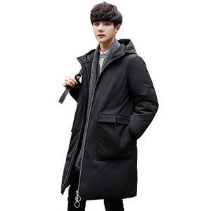 Herren Duck Down Jacke Kleidung Street Fashions lange Mantel-Winterjacken Herrenkleidung Parka Homme Männer Warme Kleidung