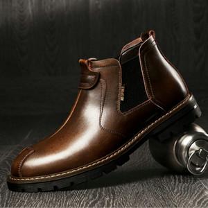 2020 Sonbahar YENİ moda Erkekler botlar siyah Kahverengi kısa botlar Erkekler Yüksek Kaliteli Çalışma C22-31