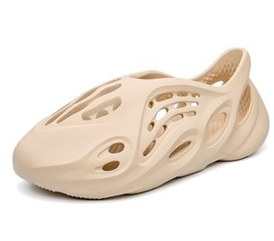 Sexemara Kanye West Мужчины Женщины моды пены бегун летом мужские слайд, случайные тапочки пляжная обувь ЭВА инжекционная Shoes горками MX200617