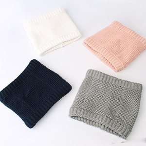 Neue Herbst-Winter-Baby-Kind-Ansatz-warmer Strickschal Kinder Strick Fleece Neck Warmer Neckchief Schal