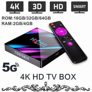 4 K Android HD TV Kutusu 5G WiFi / 4 K / 3D Akıllı TV Kutusu Streaming Network Media Player Android 9.0 4 K TV Kutusu 2/4 GB RAM 16/32/64 GB ROM Opsiyonel