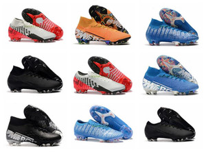 2020 Mercurial Superfly VI 360 Elite FG KJ 13s CR7 Ronaldo Mens High Soccer Cleats 13 Low Football Boots Sport Shoes Size 39-45