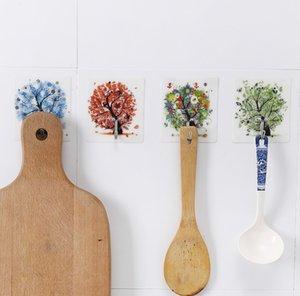 Strong Hook Paste Storage Rack Organizer Hanger Seamless Waterproof Wall Stickers Kitchen Accessories Bathroom Tools