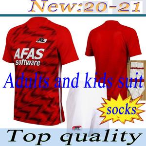 çorap 20-21 AZ Alkmaar ev futbol forması DE WIT STENGS Boadu futbol forması camiseta de fútbol maillot de ayak camisa seti AdultKids