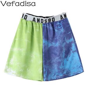 Vefadisa Ziffer Druck-Frauen Shorts 2020 Elastic Waist mittlere Taillen-beiläufige Sport-Shorts Loose Women Summer Fashion QYF2212