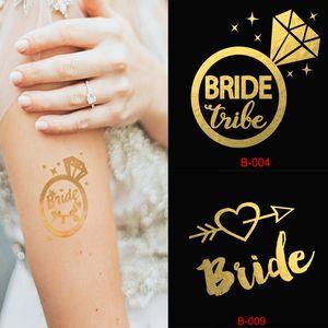 1pcs Bridal Wear Bridesmaid Dress Temporary Tattoo Bachelor Party Sticker Party Decoration Wedding Bridal Supplies 25 Kind