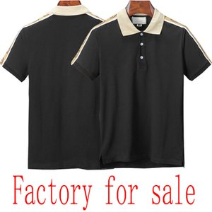 20 verano de calidad superior del polo de fábrica de polo de los hombres de lujo de los hombres de la marca color sólido del algodón nuevo estilo para la venta
