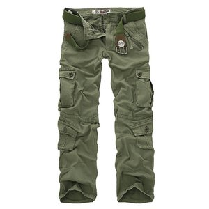 Hot Sale Free Shipping Men Cargo Pants Outdoors Trekking Hiking Combat Fighting Camping Camouflage Trousers 7 Colors