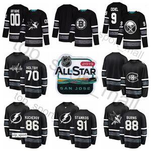 NHL 올스타 하키 저지 Nikita Kucherov Steven Stamkos Patrick Kane 9 Jack Eichel Braden Holtby 65 Erik Karlsson Carey Price Black