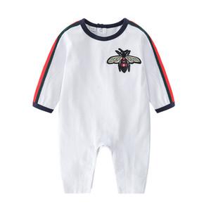 Neue Baby-Strampler Frühlings-Herbst-Baby-Kleidung neue Spielanzug-Baumwoll Neugeborenes Baby-Kind-Designer Cartoon Bee Infant Jumpsuits Kleidung