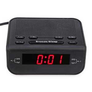 Dijital LED Radyo Çalar Saat FM Çift Alarm Buzzer Erteleme Uyku Fonksiyonu Ana Masası Radyo Saat Elektronik Erteleme Masa İzle