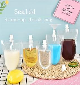 Drink tasche trasparenti stand-up Alcol Bag aspirazione ugello tenuta Borse del latte di soia e caffè Tisana Juice Bag Beverage sacchetti di immagazzinaggio
