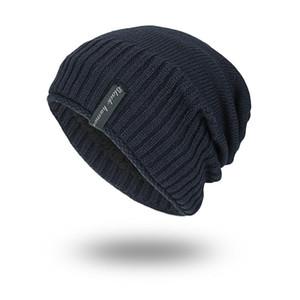 Popüler Erkek Beanie Kış Yün Şapka Yeni Moda Kadın Örme Kalınlaşmak Sıcak Polo Beanie Bonnet Caps tutun