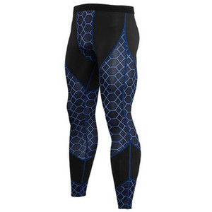 Hızlı Kuru Spor Sıkıştırma Pantolon Erkekler Spor Tayt Yoga Pantolon Egzersiz Uzun Pantolon Salonu Koşu Pantolon Sıska Leggins Hombre