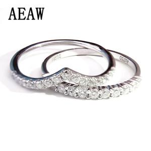 Уникальный Moissanite обручальное кольцо реальный 14k 585 белое золото обручальное кольцо для женщин юбилей матч группа Y19052301
