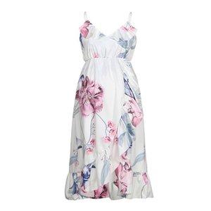 Fashion summer dress Womens Mother Casual Floral Falbala Pregnant Dress For Maternity Clothes vestido vestido casual