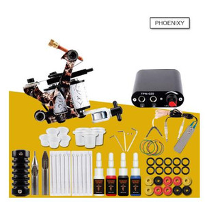 Kit Tattoo Set máquina do tatuagem Professional 20 cores tintas pigmentadas Set Kit de maquiagem permanente Beginner Tattoo Supplies