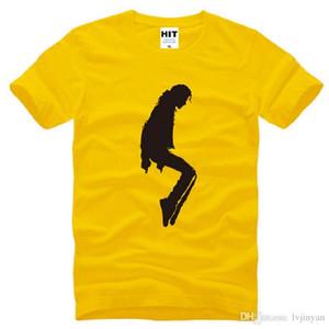 Nuevo Michael Jackson Impreso T Shirts Hombres algodón de manga corta MJ baile camiseta para hombre de la moda del estilo del verano masculino Diversiones Camiseta