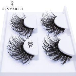SEXYSHEEP 2 paires de faux cils naturels faux cils maquillage long maquillage 3D cils vison extension de cils cils de vison pour la beauté