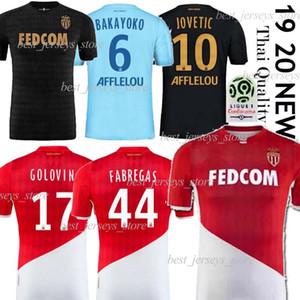 19 jerseys 20 Monaco Futebol Jersey, como maillot de pé GELSON.M FALCAO FABREGAS Golovin JOVETIC Glik Chadli Futebol