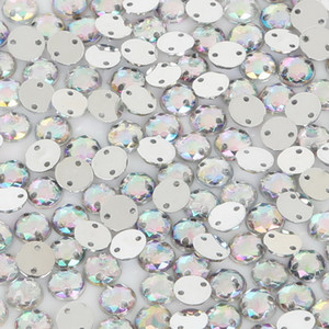 2000Pcs 6mm Acrylic Crystal Sew On Rhinestone 2 Holes Silver Flatback For Dancing Dress Clothing Shoes Wedding Decoration