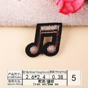 8P-143 En Stock fil d'or dessin animé WIFI fer sur Sew note de musique patchs sur patch pour enfants vêtements peuvent concevoir des clients