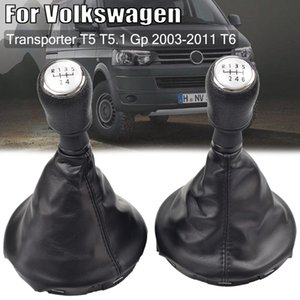 For Volkswagen VW Transporter T5 T5.1 Gp 2003-2011 T6 Car MT 5 6 Speed Gear Shift Knob Shifter Gaiter Boot Cover Collar