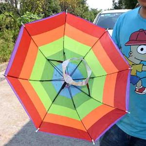Cappelli estivi Sunny Umbrella Cap Cappelli Sole Escursionismo Pesca Copricapo Spiaggia di sabbia Campeggio Ombrello piovoso Cappello Pioggia Lavorazione pieghevole portatile