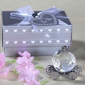 4 * 4 * 2.5cm Cristal Coche de la calabaza favores de la ducha del bautismo favores del partido de Cristal del carro de bebé