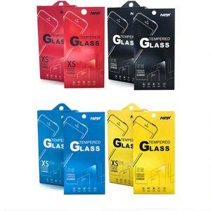 3000pcs 180 * 88mm leere Kleinpaket-Kästen, die für erstklassigen Schirm-Schutz des ausgeglichenen Glas-9H verpacken Sony iphone Samsung