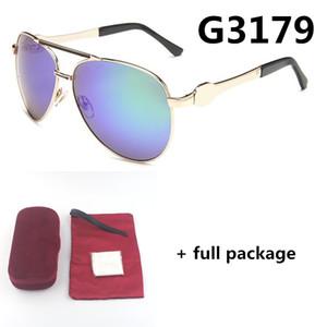 جديد 3179 الملونة إطار معدني نظارات شمسي الراقية الرجال والنساء النظارات الرجعية uv400 تظليل إطار نظارات كبيرة