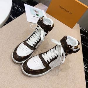 2019 Rivoli Sneaker Boot Hommes Femme élégante Salut-top High Top Sneakers Chaussures Homme Damier randonnée en plein air Souliers simples d'escalade V521