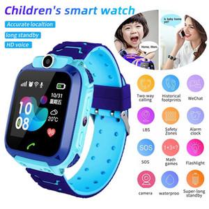 Montre téléphone intelligent pour enfants imperméable LBS Smartwatch enfants Positionnement Appel 2G Carte SIM à distance Locator Regardez Garçons Filles