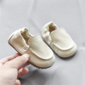 DIMI 2020 Autumn echtes Leder Babyschuh 0-3 Year Round Kopf bequeme Breathable Anti-Rutsch-Soft-Jungen-Mädchen-neugeborene Schuhe