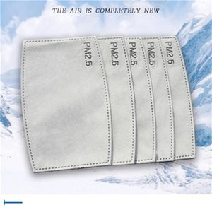 Anti Toz damlacıkları Değiştirilebilir Maskesi Kağıt Haze Ağız PM2.5 için Unisex Filtre Ekle Maske Sağlık için Filtreler