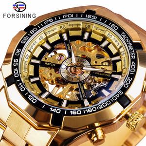 Forsining 2018 Sport Montres Bracelet pour Hommes d'or Montre Top Marque de luxe Creative Skeleton Transparent mécanique Montre bracelet