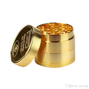 40 milímetros 4layer ouro Herb Tobacco Grinder Zine Alloy Herbal Spice Grinder Smoke metal Crusher cachimbo Acessórios Cortador Smoke