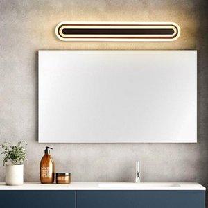 Levou Espelho de Luz Quarto Sala Stair Bathroom Wall Lamp Modern Home Decor Iluminação Interior Branco Black Metal arandela