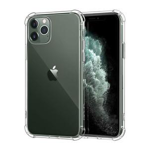 TPU caja del teléfono claro transparente protegen la cubierta a prueba de golpes suaves Casos para el iPhone 11 pro max 7 8 + X XS Nota 10 S10