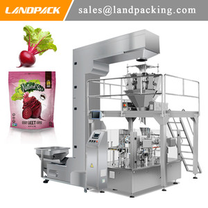 Multihead Weigh Beet Chips Stand Up Pouch Filling And Sealing Bead Machine Zipper Packing Machine Quality Manufacturer