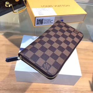 HOTLVLOUISVUITTONWallets men wallet handbags purses zippy clutch wallets leather purse card holder with