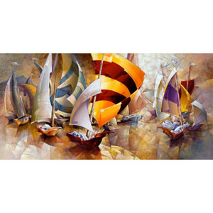 High quality abstract Oil painting Spring Regatta Hand painted flower art for living room wall decor