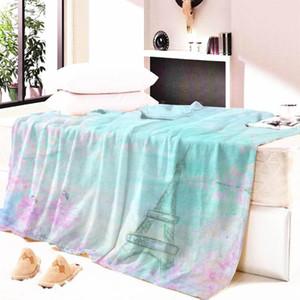 Personalizzato Torre Nap coperta molle eccellente della coperta del tiro paesaggio fiori stampati Telo ThrowTravel Aria condizionata