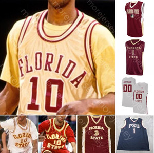 Custom Florida Государственные семинары FSU Баскетбол Джерси NCAA College Trent Forrest Walker Patrick Williams Malik Osborne