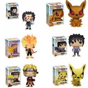 Funko Pop NARUTO Uzumaki Naruto Uchiha Sasuke kyuubi Madeira folha país de colheita fogo Modelo PVC Action Figure brinquedos de crianças T200321