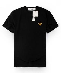 Beste Qualität Grau COM DES G GARCONS CDG HOLIDAY Herz Emoji-Spiel T T-Shirt Gezeiten Mode Pfirsich Baumwoll-T-Shirt Herz-Liebhaber Buchstaben