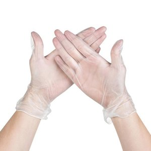 100pcs Disposable Latex Medical Gloves Universal Cleaning Work Finger Gloves Latex Protective Home Food for Safety Transparent
