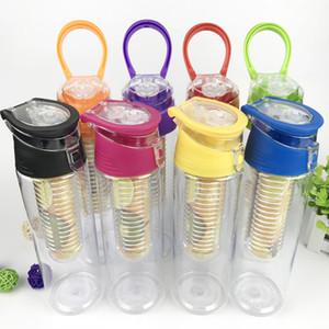 Botella de agua deportiva caliente para hombres y mujeres al aire libre campamento portátil jugo de fruta limón botella de plástico a prueba de fugas T2I5824