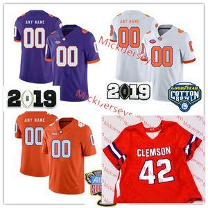 Hommes personnalisés NCAA Clemson Tigers Football Jersey 2 Sammy Watkins 6 DeAndre Hopkins 44 Levon Kirkland 28 SPILLER Clemson Tigers C.J. Jersey